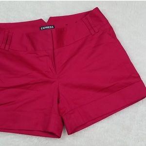 Express magenta shorts